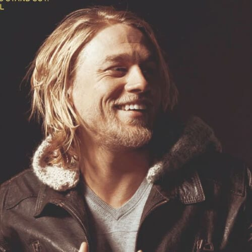 CHARLIE HUNNAM blonde men hairstyles