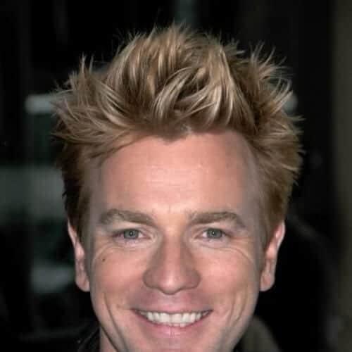 Ewan McGregor blonde men hairstyles