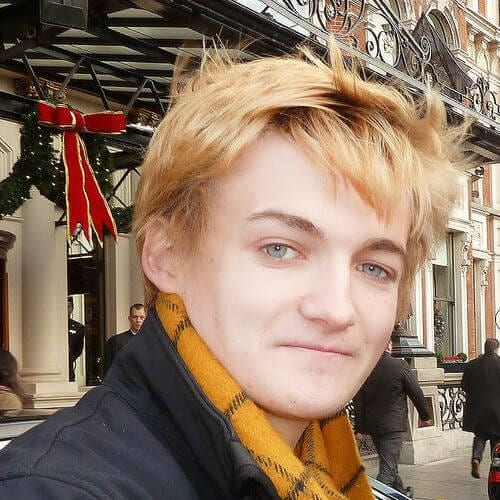 Jack Gleeson blonde men hairstyles
