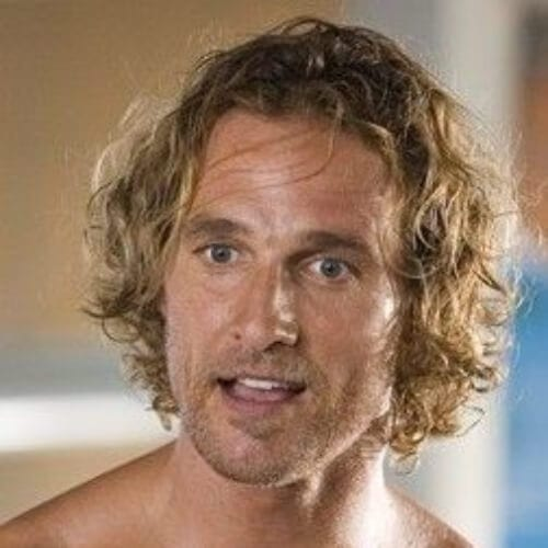 Matthew McConaughey blonde men hairstyles