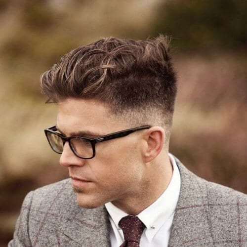 Stylish Pompadour business hairstyles