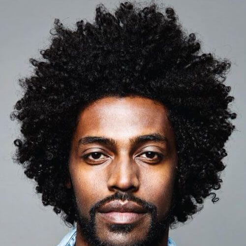 beautiful curly hairstyles for black men