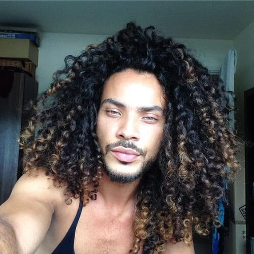 blonde peekaboos curly hairstyles for black men