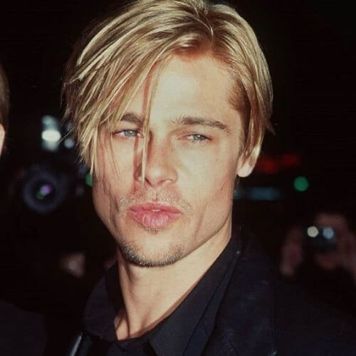 brad pitt blonde men hairstyles