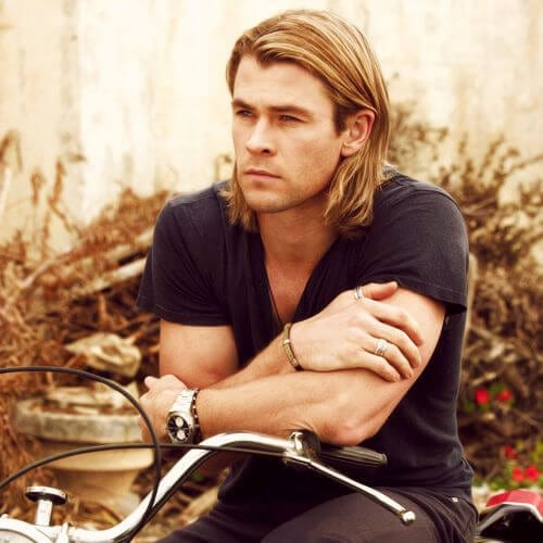 chris hemsworth blonde men hairstyles