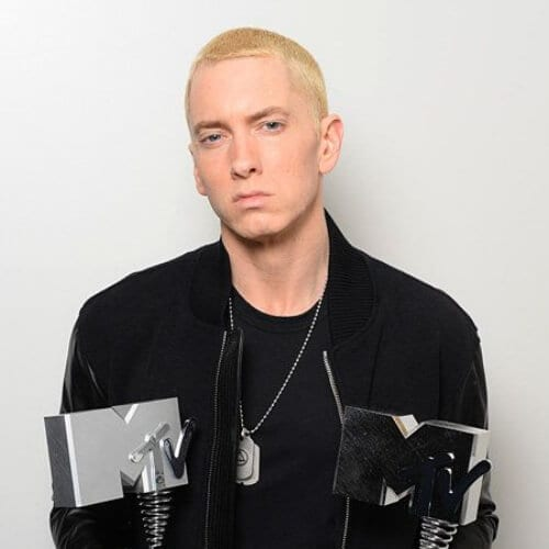 eminem blonde men hairstyles