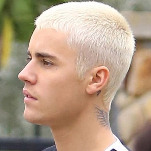 Justin Bieber Blonde Men Hairstyles