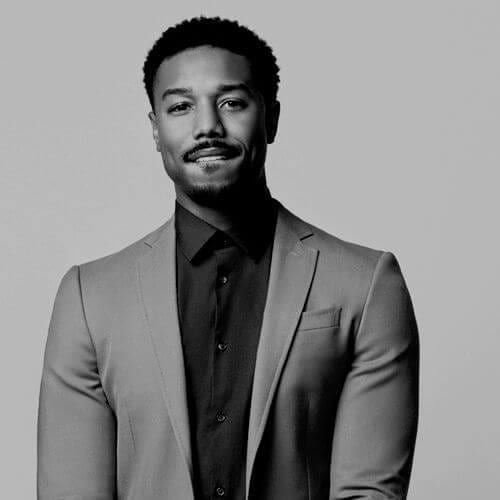michael b jordan curly hairstyles for black men