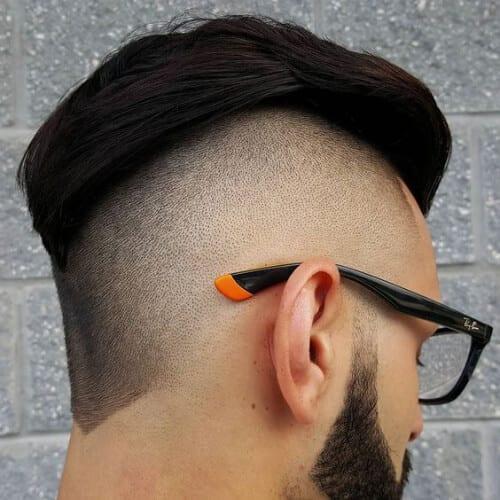 modern bald fade with beard