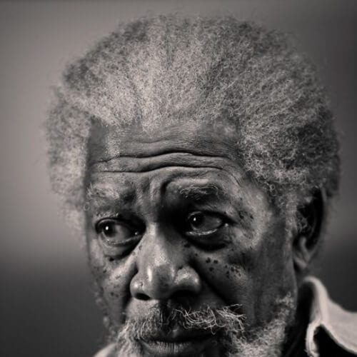 morgan freeman curly hairstyles for black men