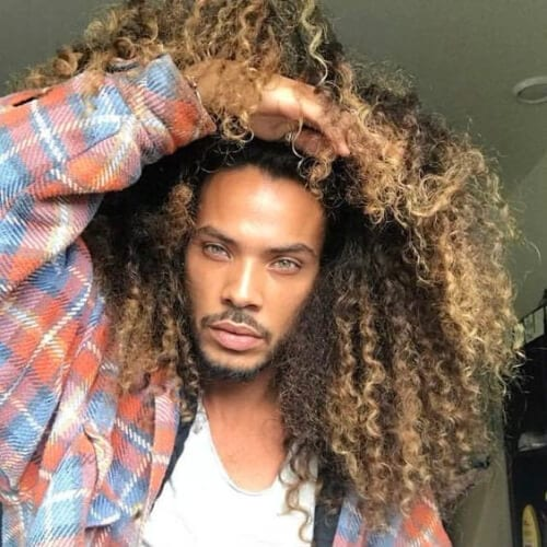 super volume curly hairstyles for black men