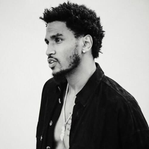 trey songz curly hairstyles for black men
