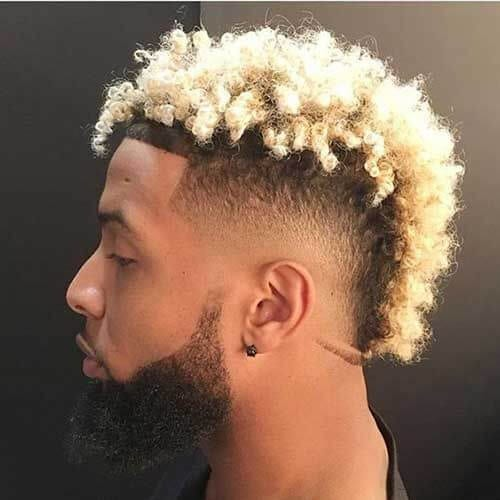 Blonde hair on black men