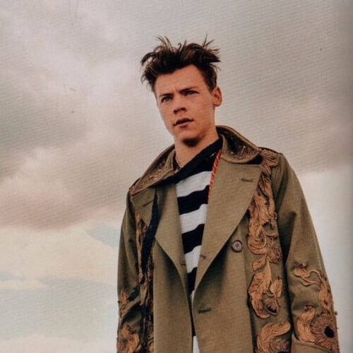 another man magazine harry styles haircut