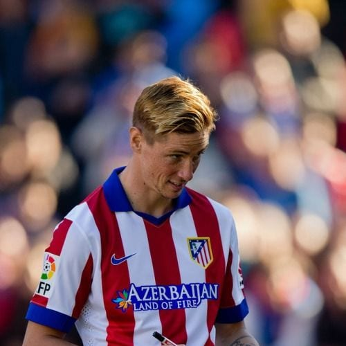 blonde layered fernando torres haircut