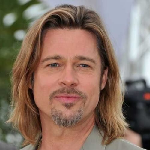 brad pitt layered haircuts for men