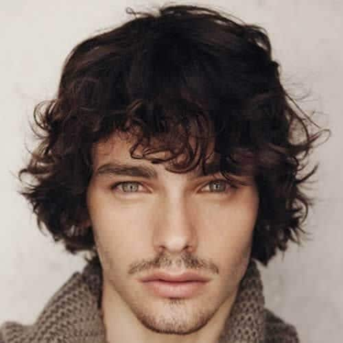 Curly Shaggy Hairstyles For Men