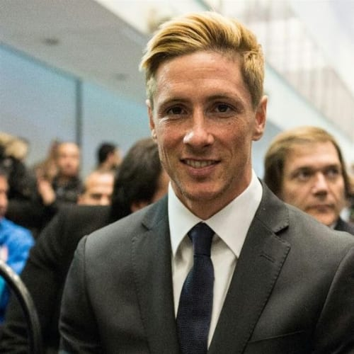 fernando torres haircut blonde comb over