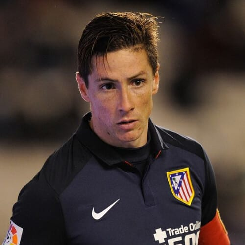 gelled slick fernando torres haircut