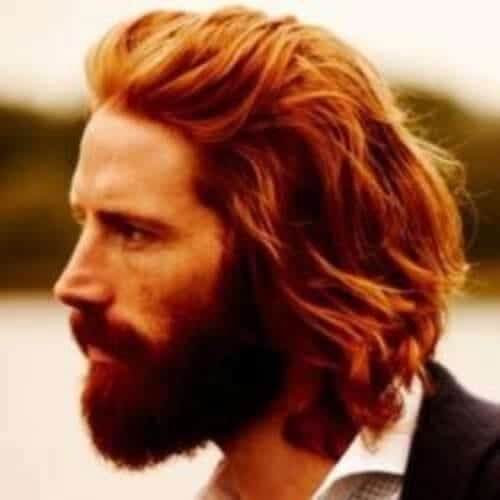 ginger layered haircuts for men