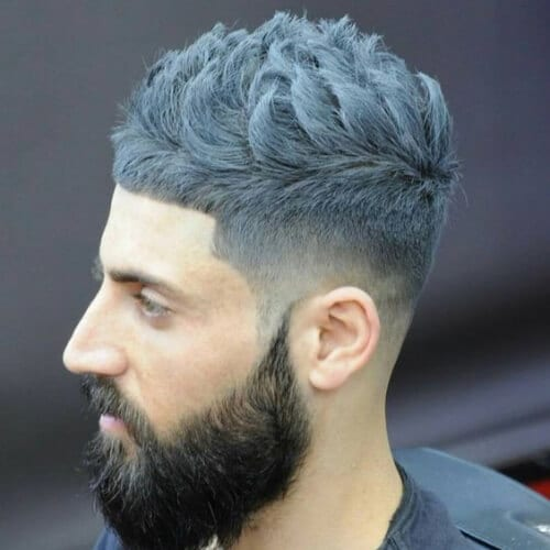gray layered haircuts for men