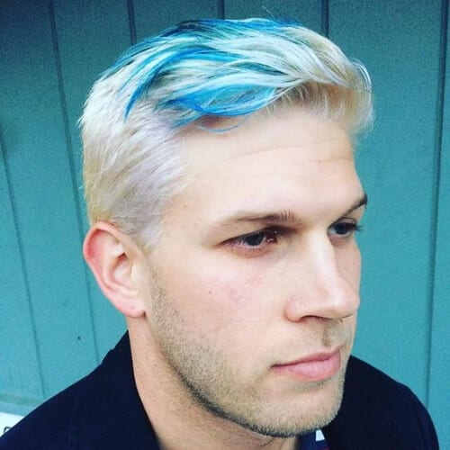 icy blue streak layered haircuts for men