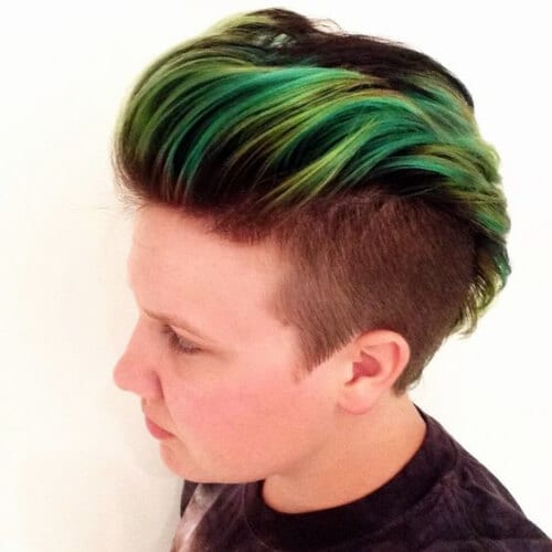lime green layered haircuts for men