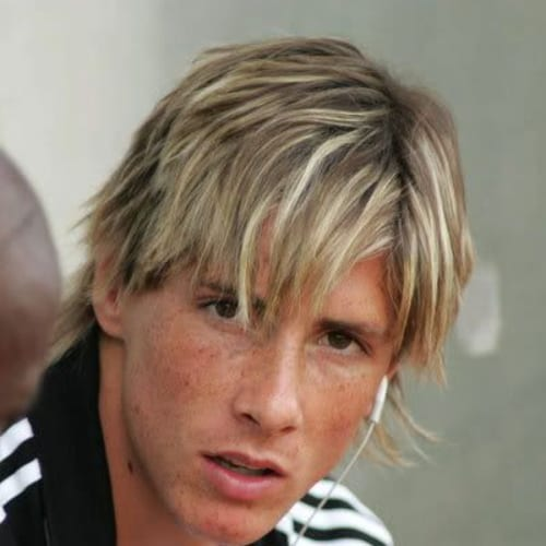 short shaggy mullet fernando torres haircut
