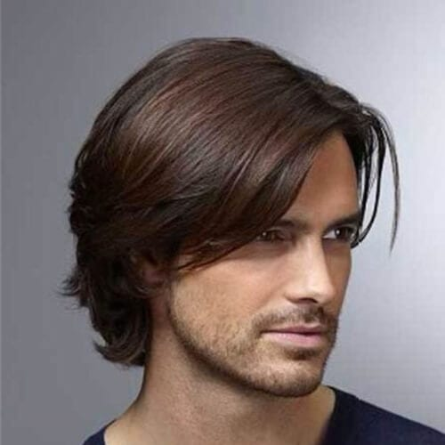 side bangs layered haircuts for men
