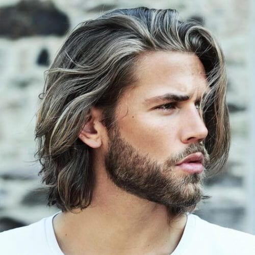 white underlights layered haircuts for men