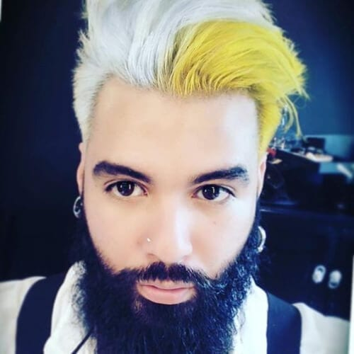 yellow layered haircuts for men