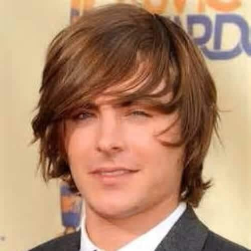 zac efron layered haircuts for men