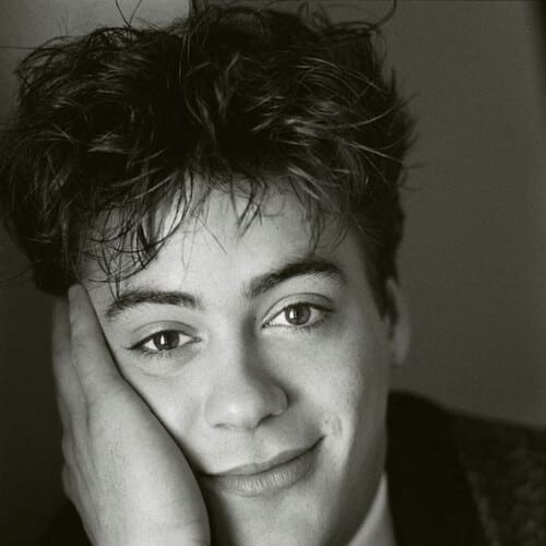 1985 robert downey jr haircut