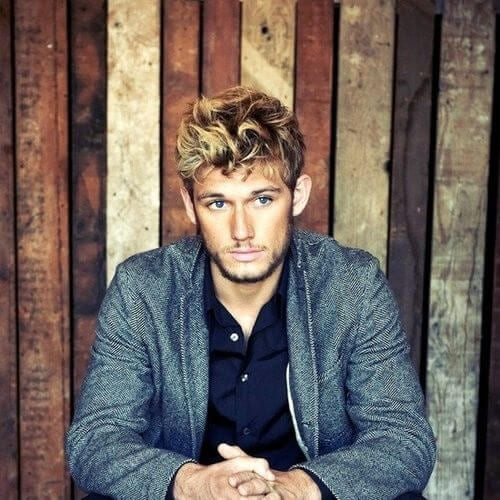 Alex Pettyfer hairstyles with beard