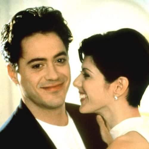 ONLY YOU, Robert Downey Jr., Marisa Tomei, 1994 robert downey jr haircut