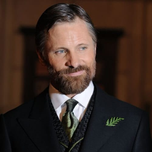 Viggo Mortensen hairstyles with beard