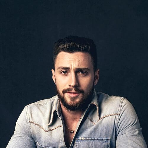 aaron taylor-johnson hairstyles with beard