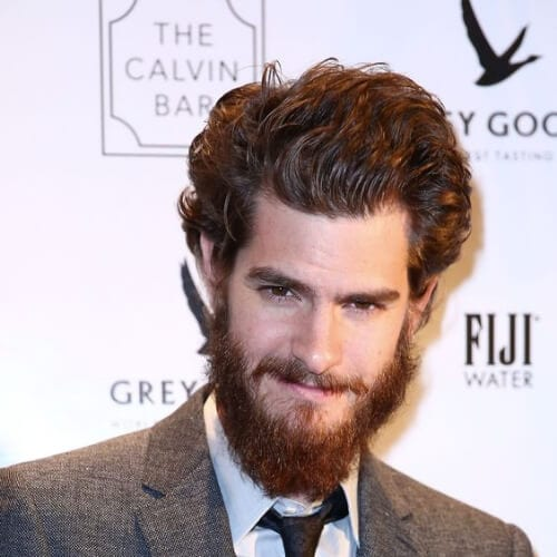 andrew garfield hairstyles with beard