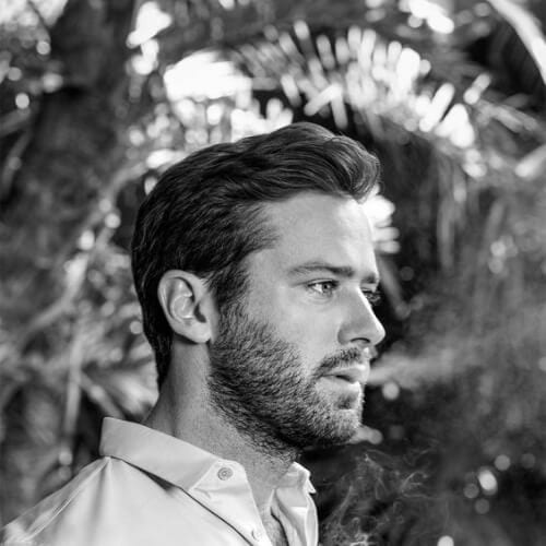 armie hammer hairstyles with beard