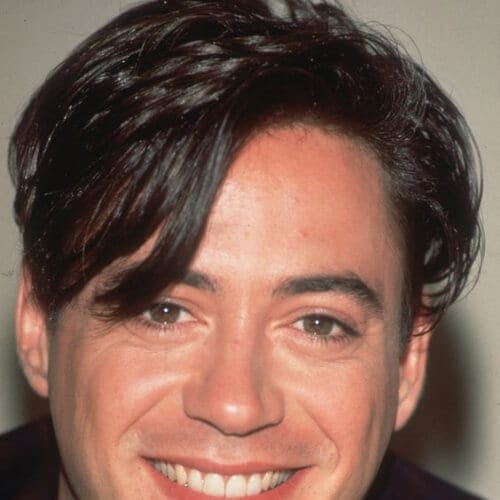 bangs robert downey jr haircut