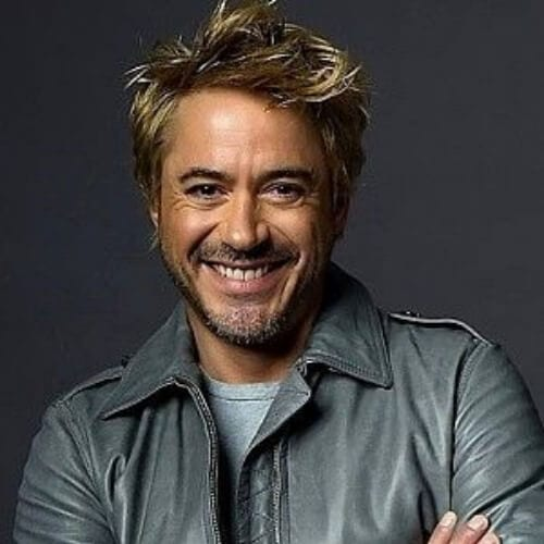 blonde robert downey jr haircut