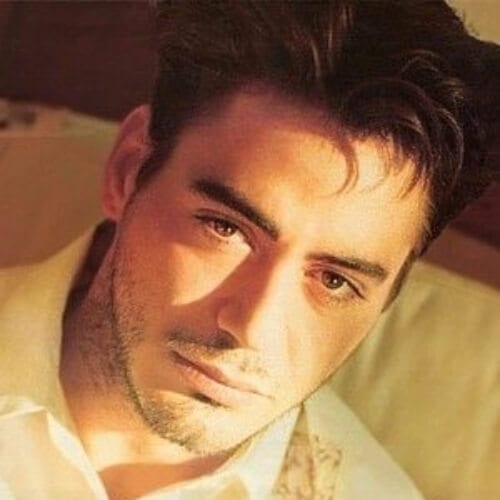 boy band robert downey jr haircut