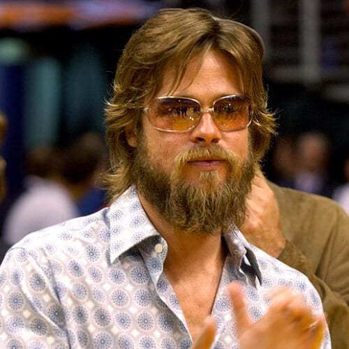 brad pitt hairstyles with beard