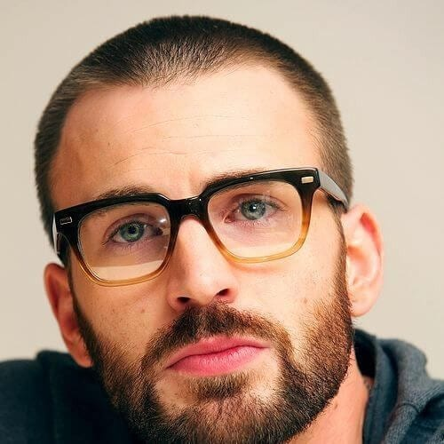chris evans hairstyles with beard