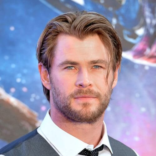 chris hemsworth hairstyles with beard