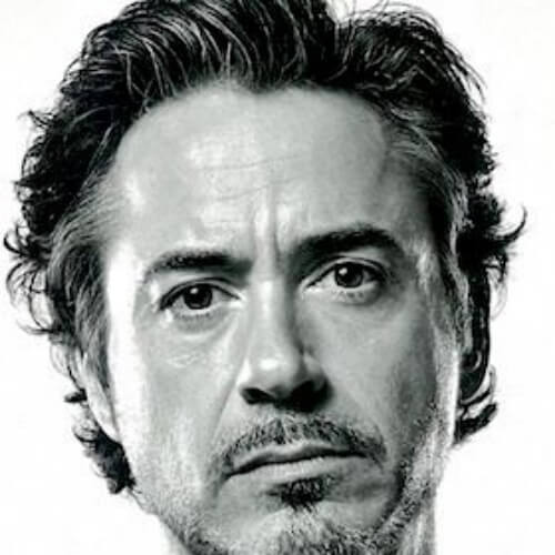 comb over medium robert downey jr haircut