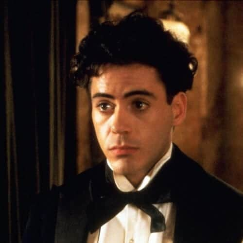 curly robert downey jr haircut