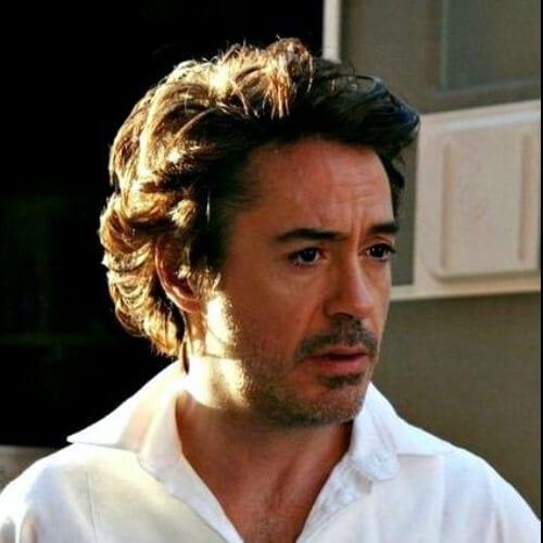 Curly Robert Downey Jr Haircut