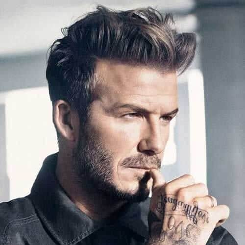 David Beckham Messy Hairstyles For Men