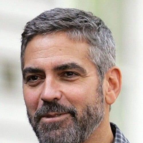 george clooney hairstyles with beard